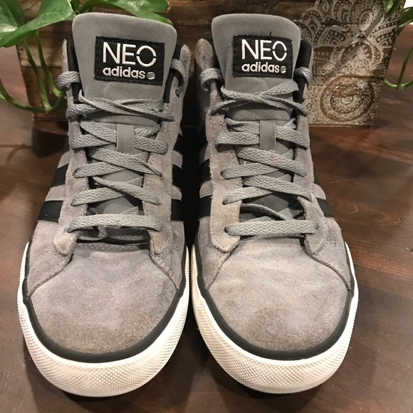 Men's adidas Neo high top leather sneakers shoes